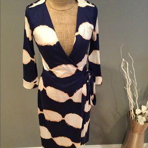Diane Von Furstenberg wrap dress falling leaves